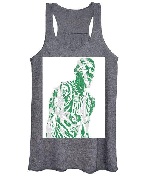 Kyrie Irving Boston Celtics Pixel Art 42 Women's Tank Top