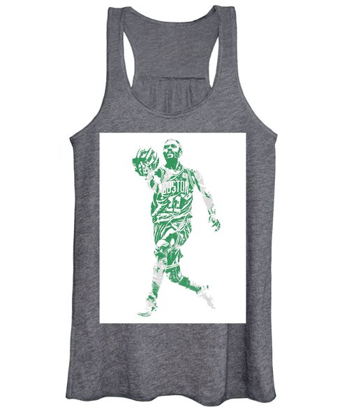Kyrie Irving Boston Celtics Pixel Art 43 Women's Tank Top