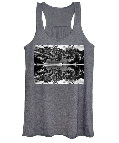 Lake 22 Winter Black And White Reflection Women's Tank Top