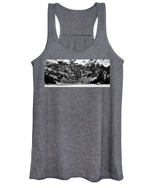 Lake 22 Winter Black And White Women's Tank Top