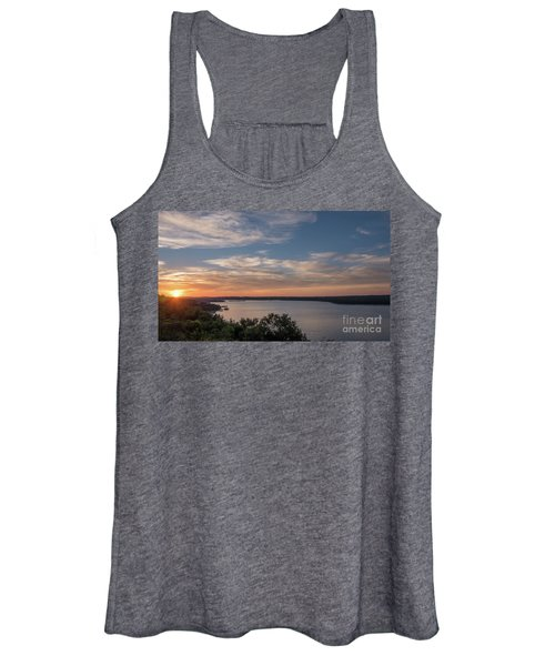 Lake Travis During Sunset With Clouds In The Sky Women's Tank Top