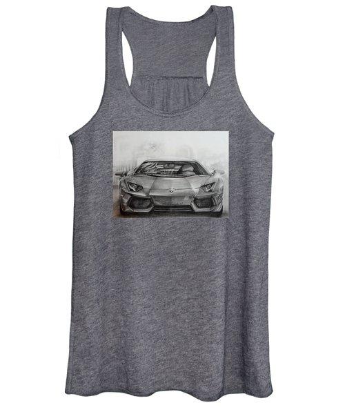 Lamborghini Aventador Women's Tank Top