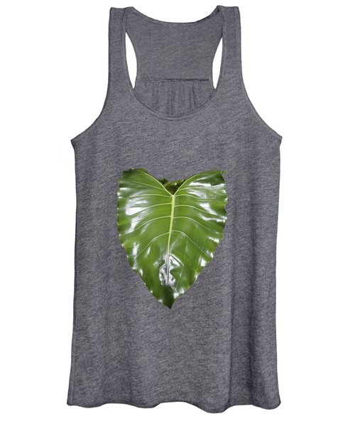 Large Leaf Transparency Women's Tank Top