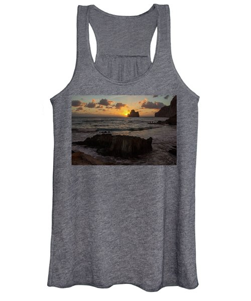 Large Rock Against The Light Women's Tank Top