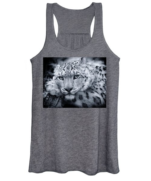 Large Snow Leopard Portrait Women's Tank Top