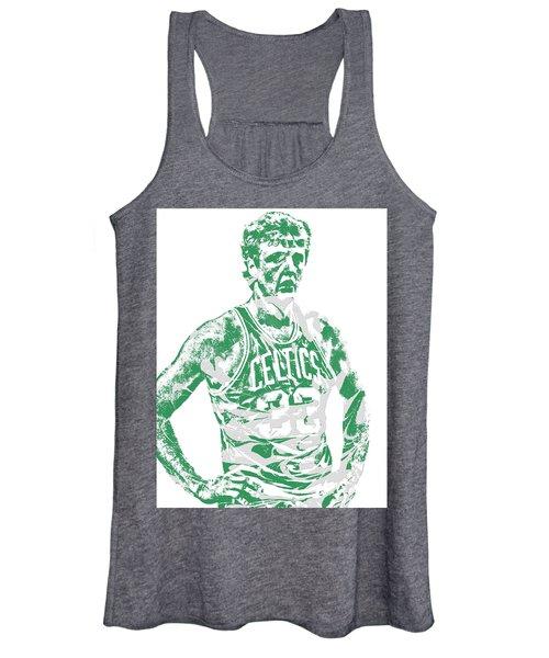 Larry Bird Boston Celtics Pixel Art 6 Women's Tank Top