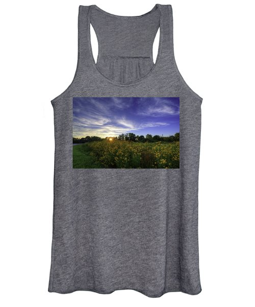 Last Rays Over The Flowers Women's Tank Top