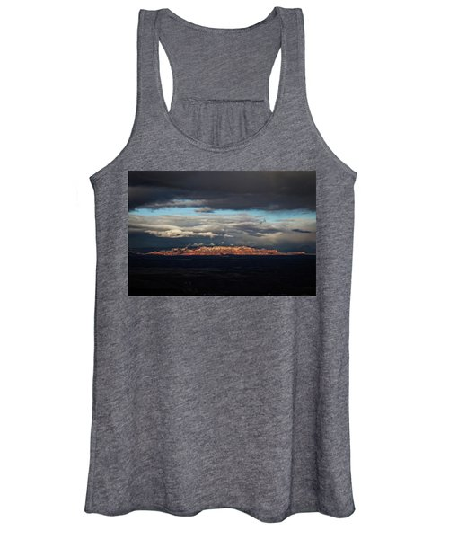 Late Light On Red Rocks With Storm Clouds Women's Tank Top