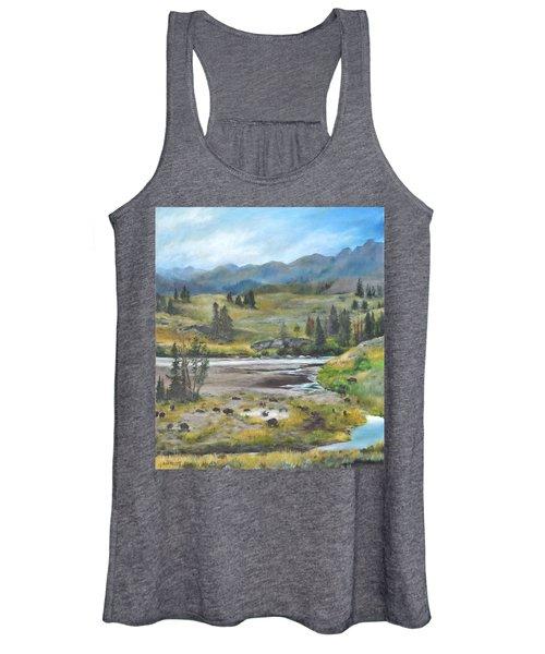 Late Summer In Yellowstone Women's Tank Top