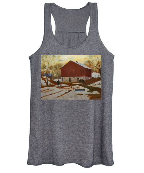 Late Winter At The Farm Women's Tank Top