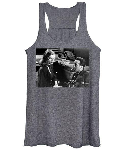 Lauren Bacall Humphrey Bogart Film Noir Classic The Big Sleep 1 1945-2015 Women's Tank Top