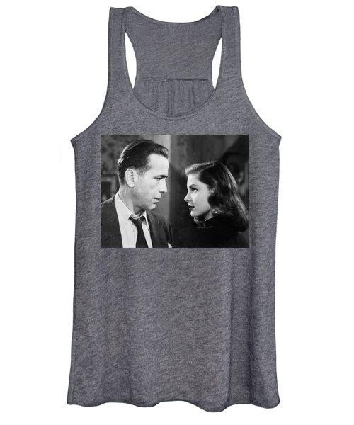Lauren Bacall Humphrey Bogart Film Noir Classic The Big Sleep 2 1945-2015 Women's Tank Top