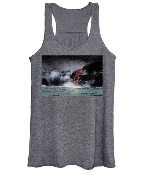 Lava Dripping Into The Ocean Women's Tank Top