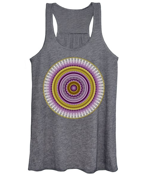 Lavender And Gold Lace Women's Tank Top