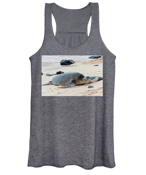 Lazy Day At The Beach Women's Tank Top