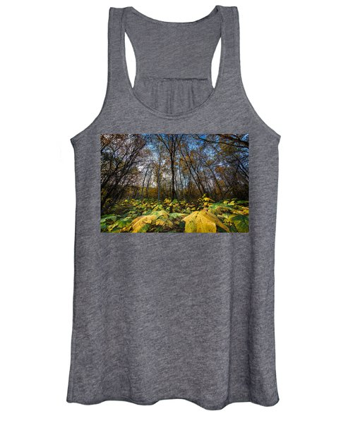 Leafy Yellow Forest Carpet Women's Tank Top