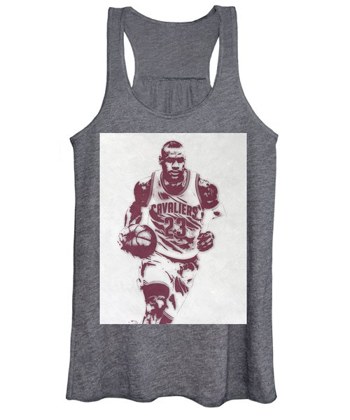 Lebron James Cleveland Cavaliers Pixel Art 4 Women's Tank Top
