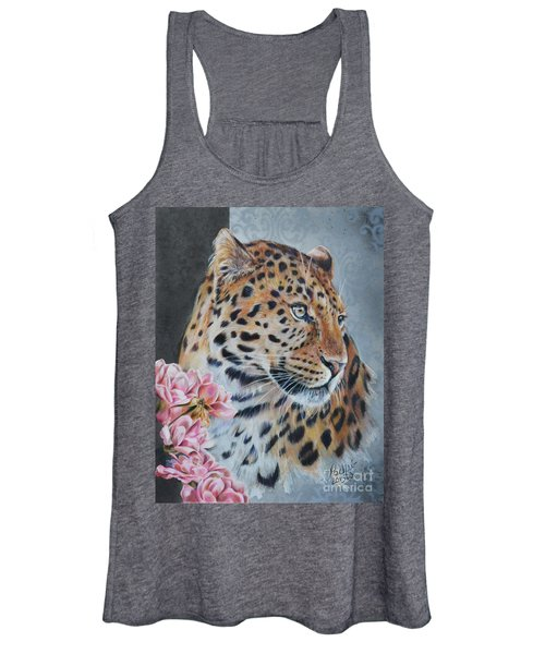 Leopard And Roses Women's Tank Top