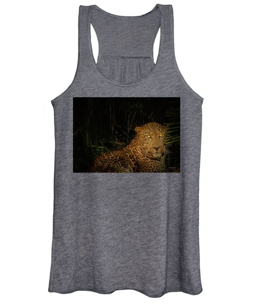 Leopard Hiding Women's Tank Top