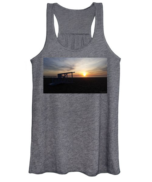 Lifeguard Stand And Sunrise Women's Tank Top
