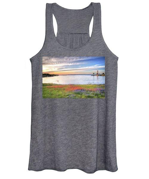 Lighthouse Sunset At Lake Buchanan Women's Tank Top
