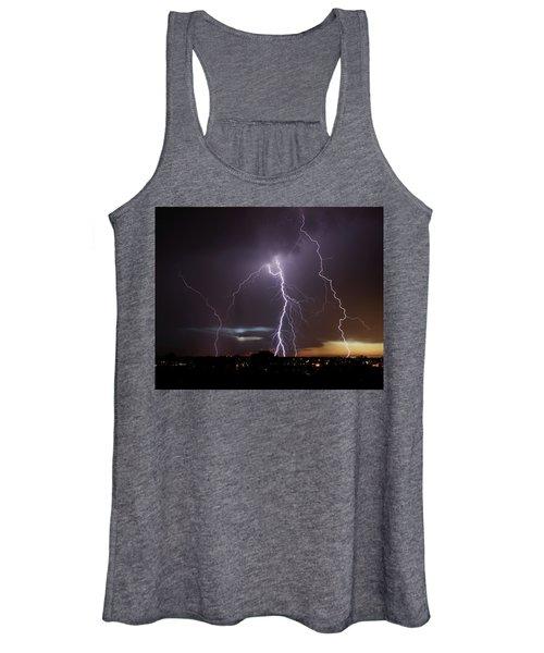 Lightning At Dusk Women's Tank Top