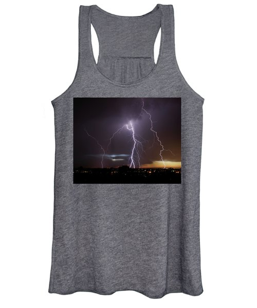 Lightning At Dusk Women's Tank Top