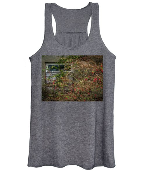 Women's Tank Top featuring the photograph Lingering Blooms In Autumn by James Truett
