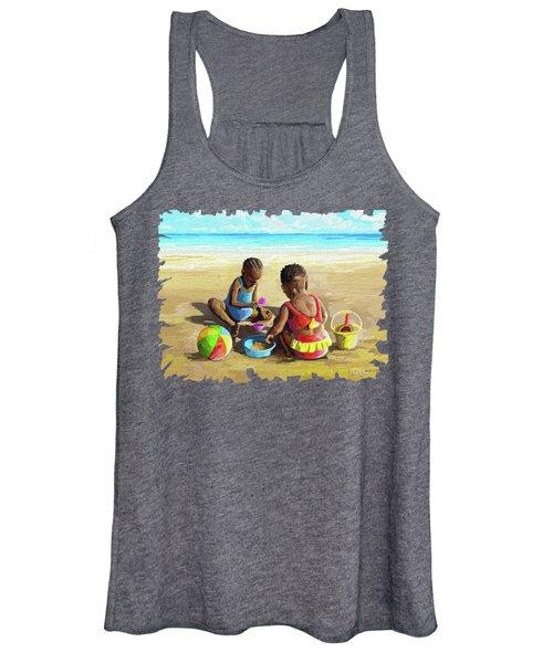 Little Girls At The Beach Women's Tank Top