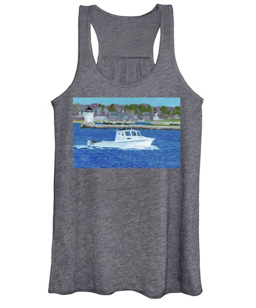 Lobster Boat And Bug Light Women's Tank Top