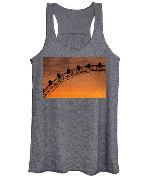 London Eye Sunset Women's Tank Top