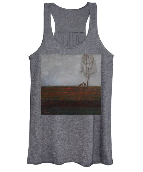Lonely Tree With Two Roes Women's Tank Top