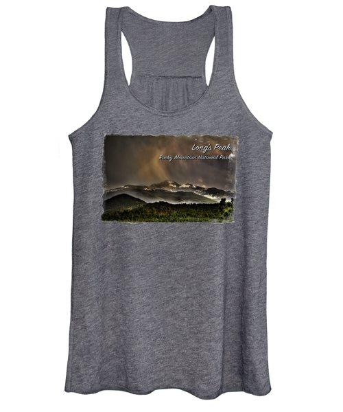 Long's Peak In Haze Women's Tank Top