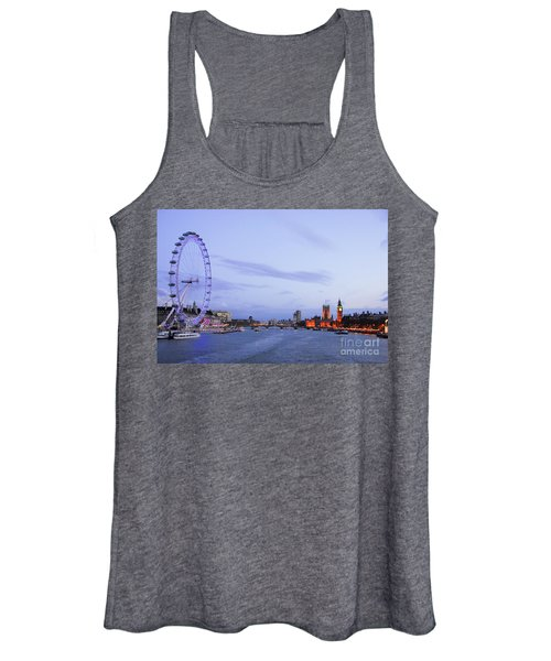 Looking Down The Thames Women's Tank Top