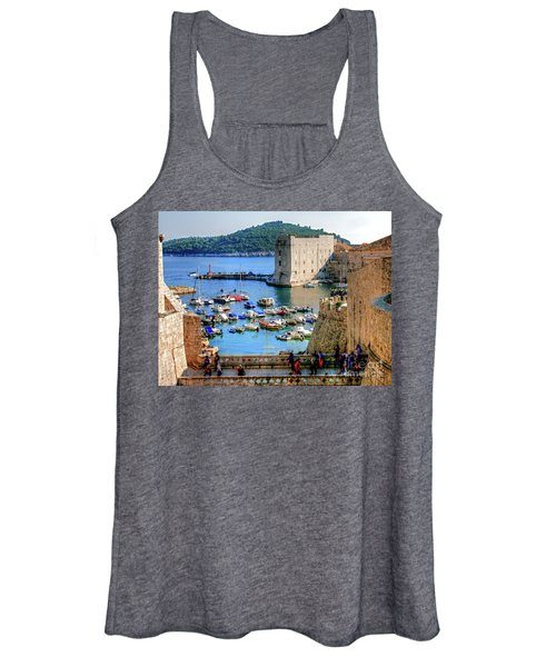 Looking Out Onto Dubrovnik Harbour Women's Tank Top