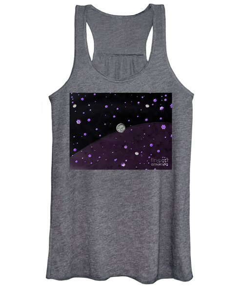 Lost In Midnight Charcoal Stars Women's Tank Top