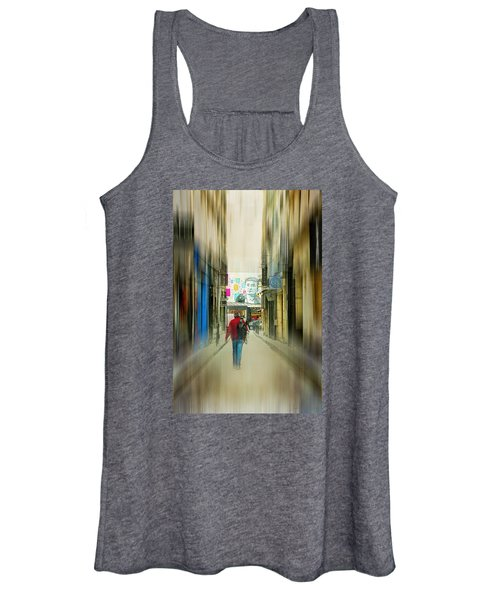 Lost In The Maze Of The City Women's Tank Top