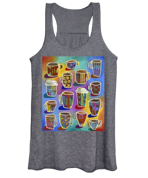 Women's Tank Top featuring the painting Lots Of Lattes by Carla Bank