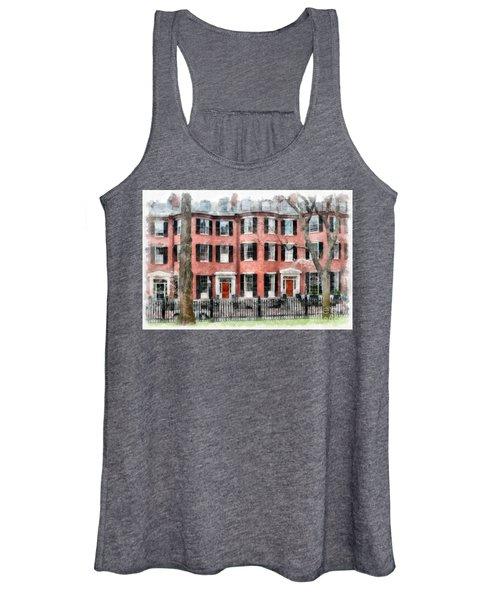 Louisburg Square Beacon Hill Boston Women's Tank Top