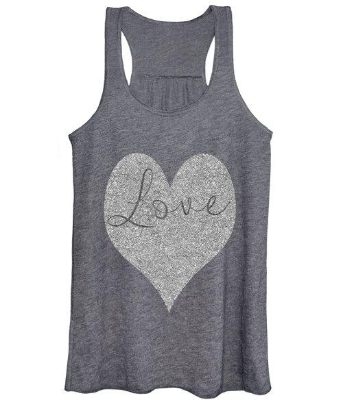Love Heart Glitter Women's Tank Top
