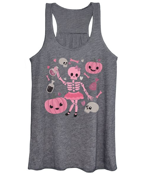 Love Potion Skeleton Dance Women's Tank Top