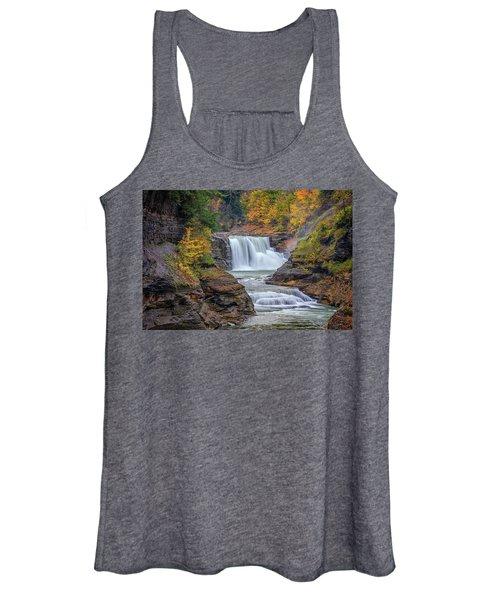 Lower Falls In Autumn Women's Tank Top