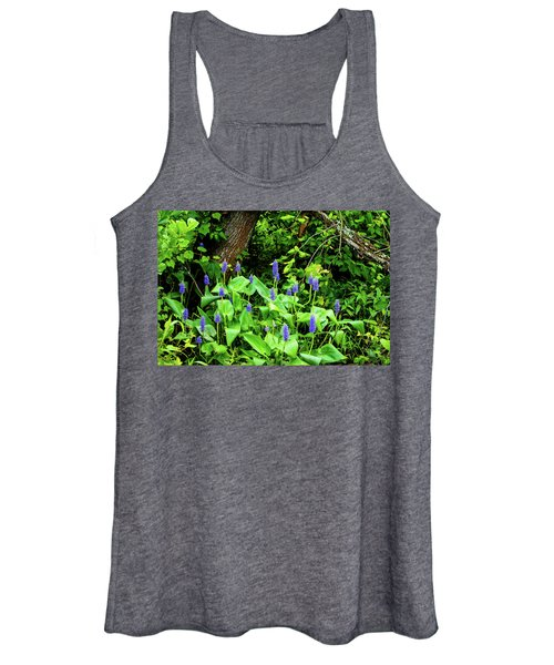 Lush Purple Flowers In The Woods Women's Tank Top