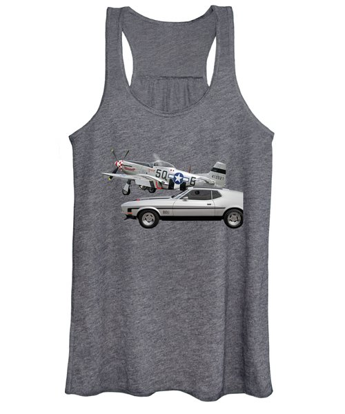 Mach 1 Mustang With P51  Women's Tank Top