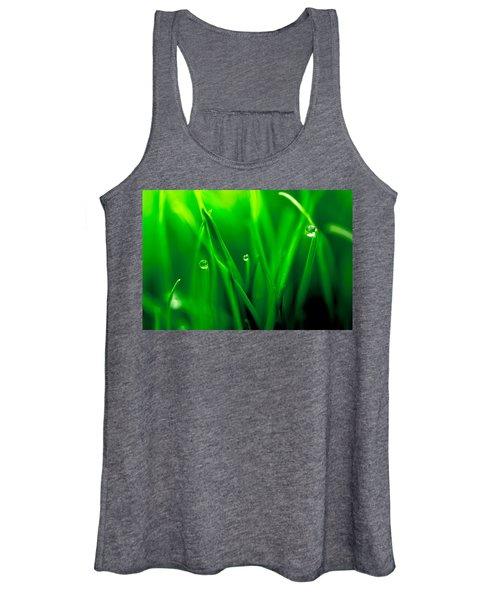 Macro Image Of Fresh Green Grass Women's Tank Top