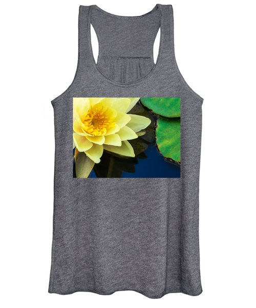 Macro Image Of Yellow Water Lilly Women's Tank Top