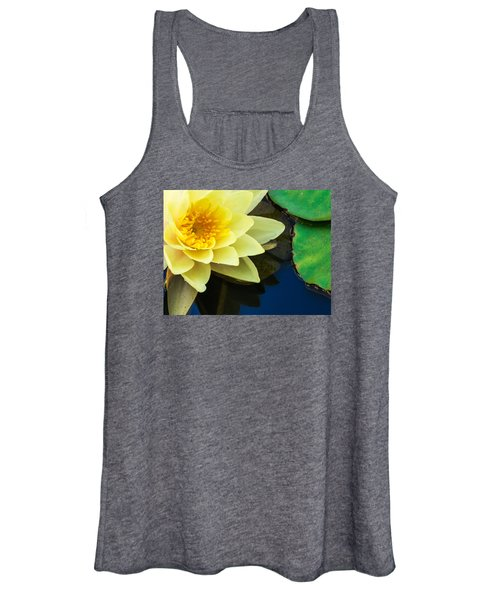 Macro Image Of Yellow Water Lilly Women's Tank Top