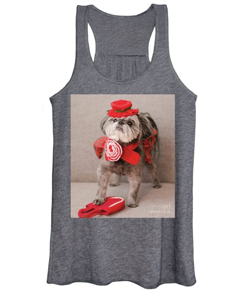 Madam Scarlett In All Red Women's Tank Top