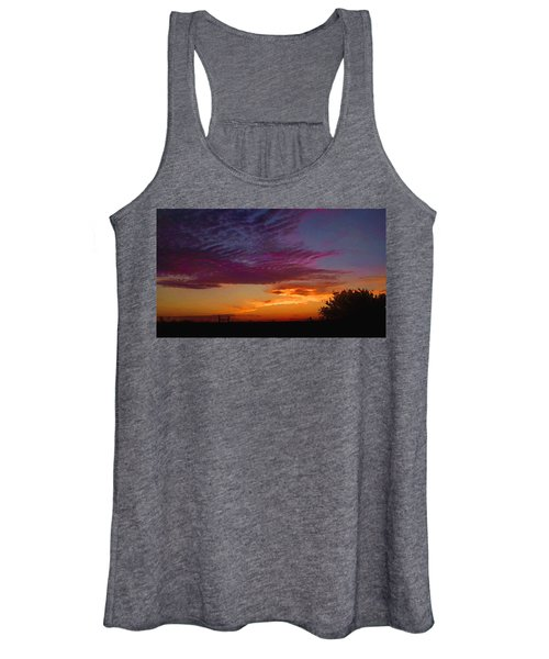 Magenta Morning Sky Women's Tank Top