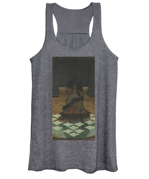 Magical Holy Mountain Within A Lotus-filled Sea Women's Tank Top